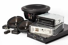 Аудио автомобиля с дикторами Стоковое Изображение
