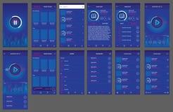 Аудио андроид дизайна ui приложения книги иллюстрация вектора