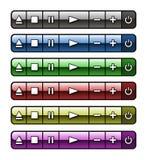 Аудио Botones de Стоковые Изображения RF