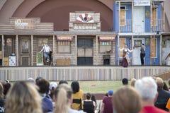 Аудитории привлекают выставкой любимчика на справедливом парке Стоковые Изображения