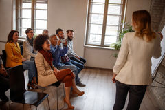 Аудитория на семинаре дела Стоковое Фото