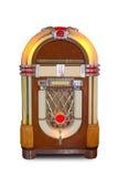 Аудиоплейер реального винтажного музыкального автомата ретро изолированный на белой предпосылке Стоковые Фотографии RF