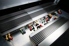 Аудиосистема музыки силы автомобиля Стоковое фото RF