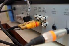 Аудио кабеля Стоковые Фотографии RF