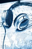 Аудио цифров и принципиальная схема нот Стоковая Фотография RF