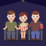 Аудитории на премьере блокбастера Стоковое Изображение