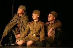 Аудитория музыкального спектакля - пенсионеры, пожилые ветераны Второй Мировой Войны и их родственники Стоковое Изображение