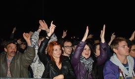 Аудитория на концерте музыки Стоковые Изображения