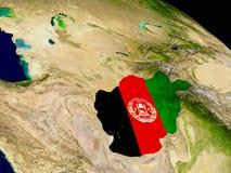 Афганистан с флагом на земле Стоковое Изображение RF
