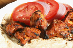Афганский цыпленок Kebab Стоковое фото RF