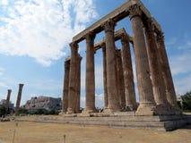 Афина, висок взгляда Зевса в хорошей погоде стоковая фотография rf