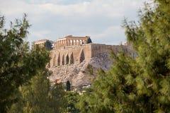 Афины, акрополь, Парфенон Стоковые Фото