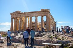 11 03 2018 Афины, Греция - висок Парфенона на солнечный день Acr Стоковое Изображение RF
