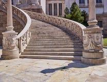 Афины Греция, лестница национальной библиотеки Стоковые Изображения