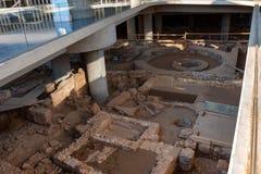АФИНЫ, ГРЕЦИЯ - ИЮНЬ 2011: Раскопк в музее Стоковые Изображения RF