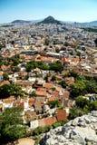 Афины, Греция, съемка от Парфенона Стоковые Изображения RF
