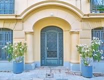 Афины Греция, элегантный вход свода дома Стоковые Фотографии RF