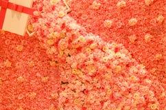 Афиша вполне розовых цветков стоковые изображения