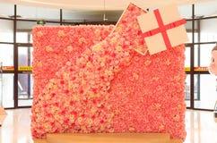 Афиша вполне розовых цветков стоковое изображение