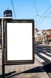 Афиша городского пейзажа пустая для потребителя, который нужно доработать Стоковое фото RF