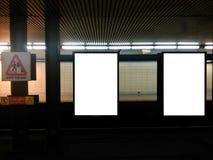 Афиша 4 метро Стоковые Фотографии RF