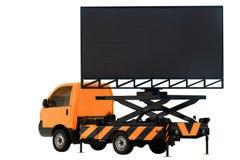 Афиша на панели СИД цвета автомобиля оранжевой для рекламы знака изолированной на белизне предпосылки Стоковое Изображение