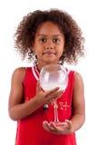 африканская азиатская милая выпивая девушка меньшее молоко Стоковое фото RF
