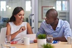 Африканская встреча бизнесмена Стоковая Фотография RF