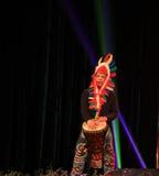 Африканская выставка барабанчика в выставке Нового Года Стоковая Фотография RF