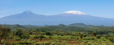 Африканская гора Килиманджаро Стоковое Изображение RF