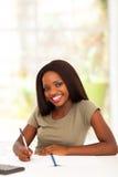 Африканская девушка коллежа стоковое изображение rf