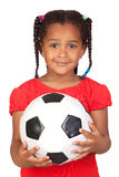 африканская девушка шарика меньший футбол Стоковая Фотография RF