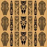 африканская декоративная картина иллюстрация вектора