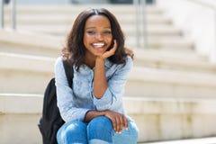 Африканская девушка коллежа стоковая фотография rf