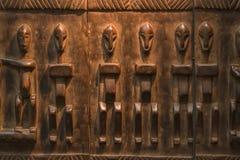 Африканская деревянная картина ремесла Стоковое Изображение RF