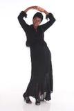 Африканская женщина в черном платье Стоковые Изображения RF