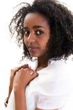 Африканская женщина на белизне Стоковые Изображения