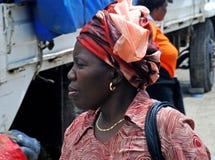 африканская женщина портрета Стоковая Фотография