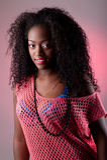 африканская женщина портрета стоковая фотография rf