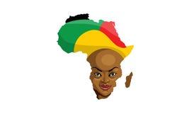 африканская женщина иллюстрация штока