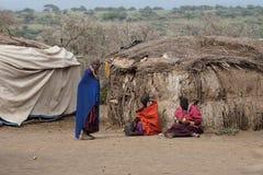 Африканская жизнь людей masai Стоковое Фото
