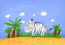 африканская зебра Стоковые Изображения