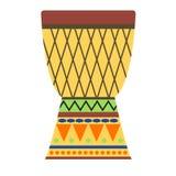 Африканская иллюстрация вектора барабанчиков Стоковые Изображения