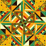 африканская картина безшовная Этнический орнамент на ковре Ацтекский стиль Диаграмма племенная вышивка Индийская, мексиканская, ф бесплатная иллюстрация