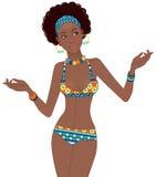 африканская красивейшая женщина Стоковое Изображение