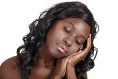 африканская красивейшая мечтая женщина стоковое изображение