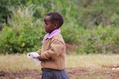 Африканская маленькая девушка школы Стоковая Фотография RF