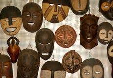 африканская маска деревянная Стоковые Изображения RF