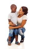 Африканская мать мальчика Стоковые Изображения RF