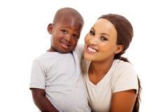 Африканская мать мальчика Стоковые Изображения